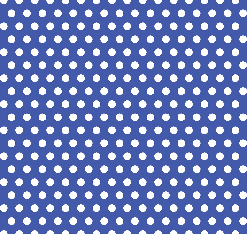 Blue with white polka dot seamless background image