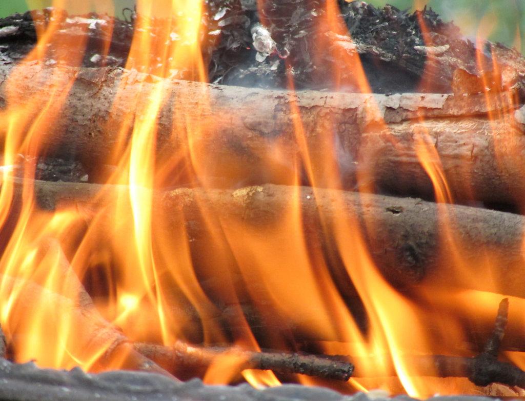 Open fire pit photo