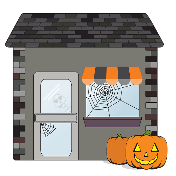 Halloween small business shop icon
