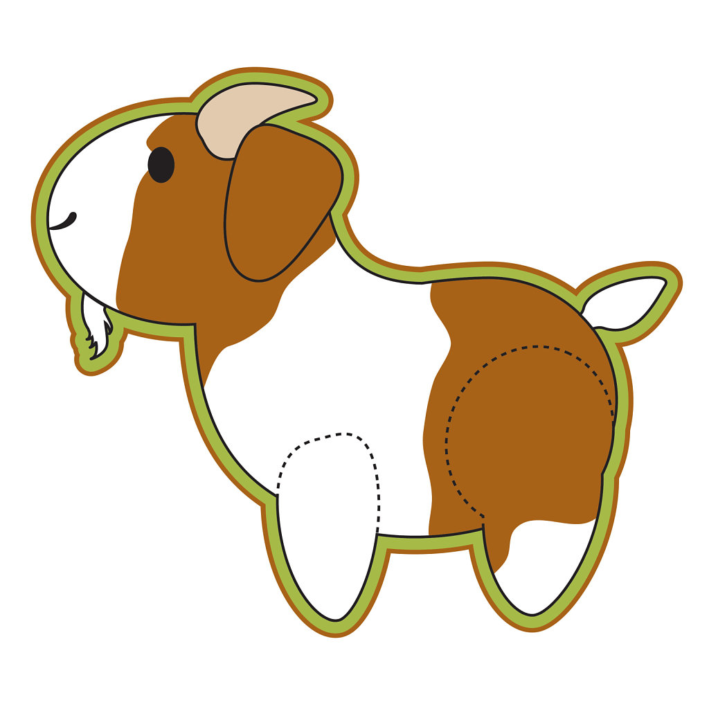 Baby goat illustration image