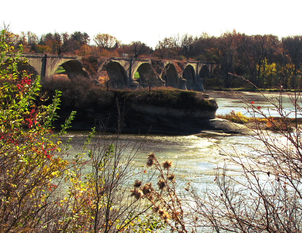 Historical railroad concrete bridge