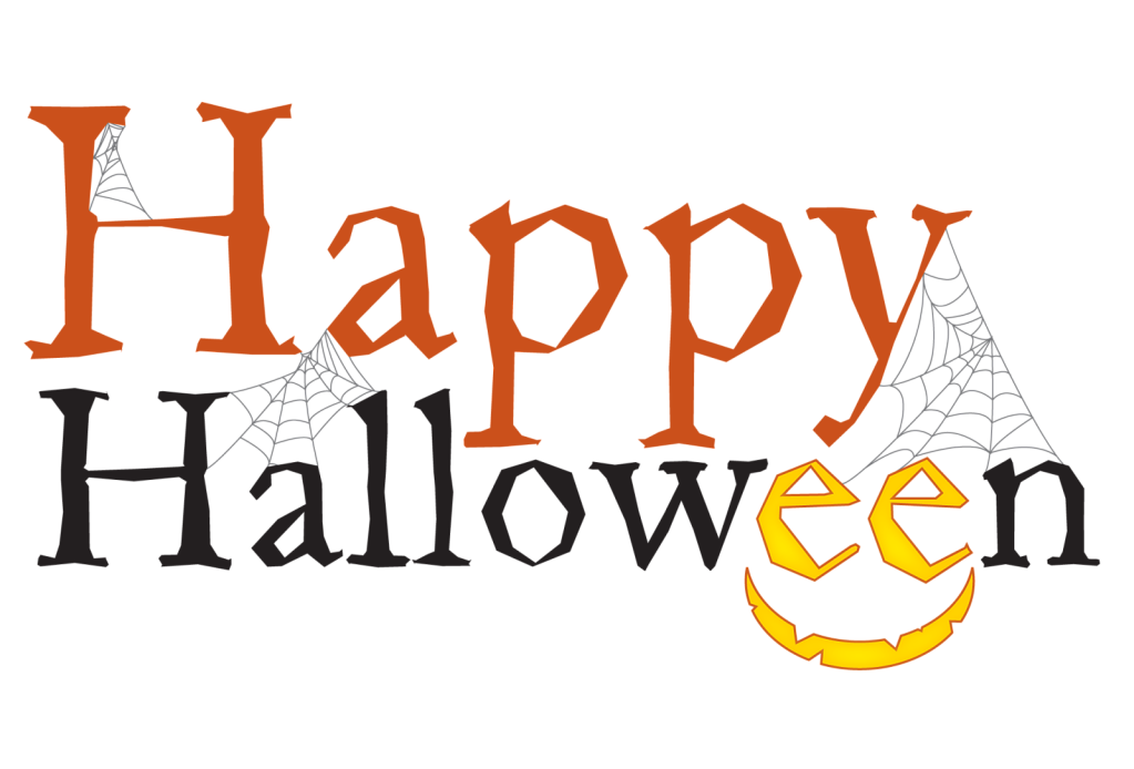 Happy Halloween text transparent background