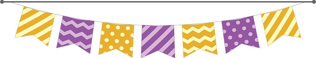 Patterned orange and purple Halloween text divider or banner
