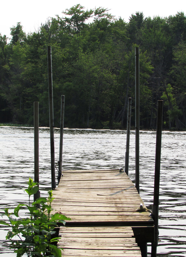 Dock overlooking small lake