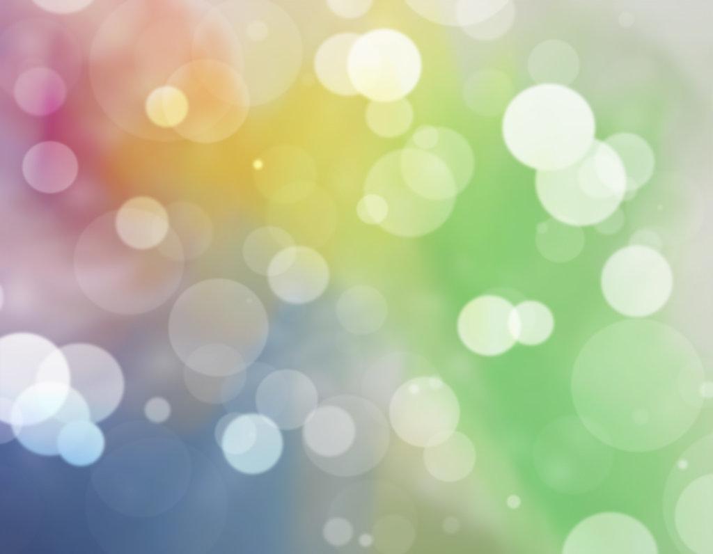 Rainbow bokeh effect with false lens flare
