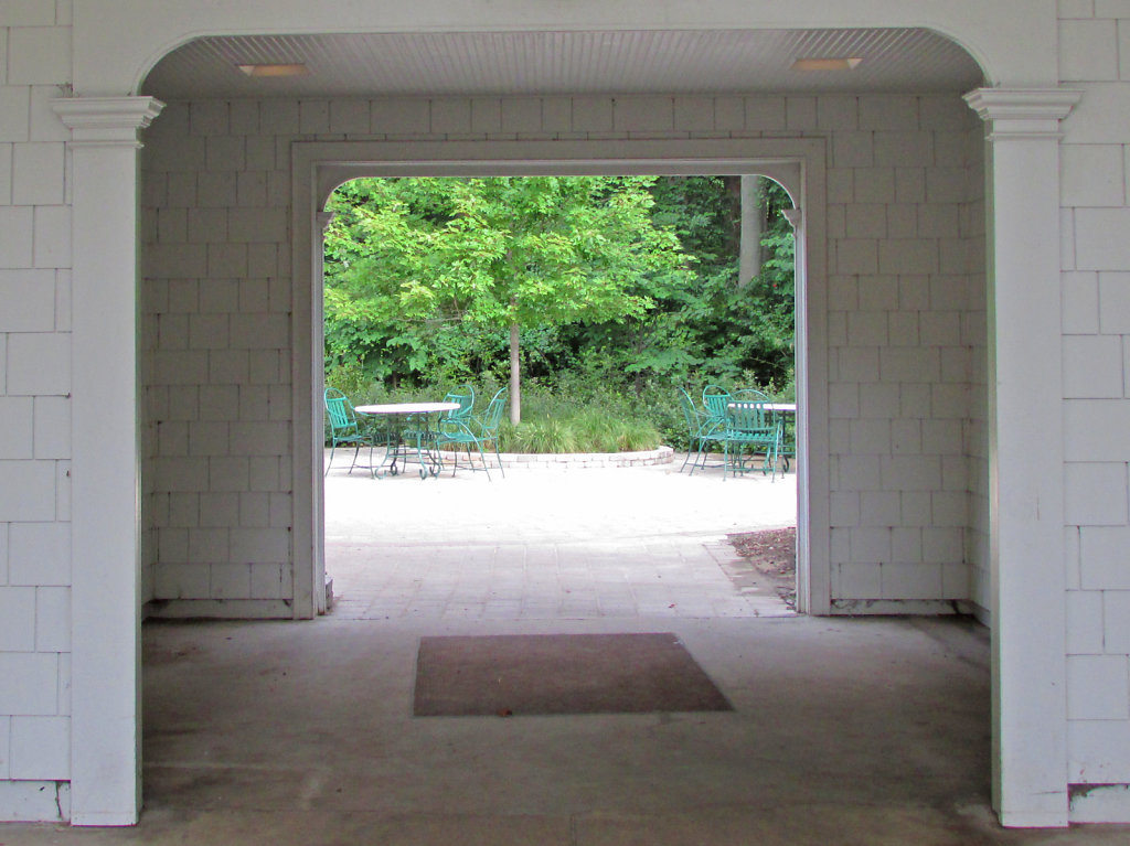 Two archways leading outside