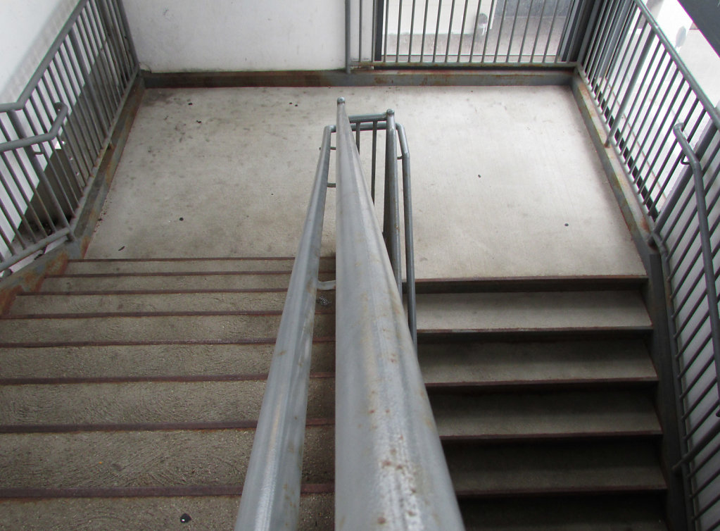 Stairs in the parking lot