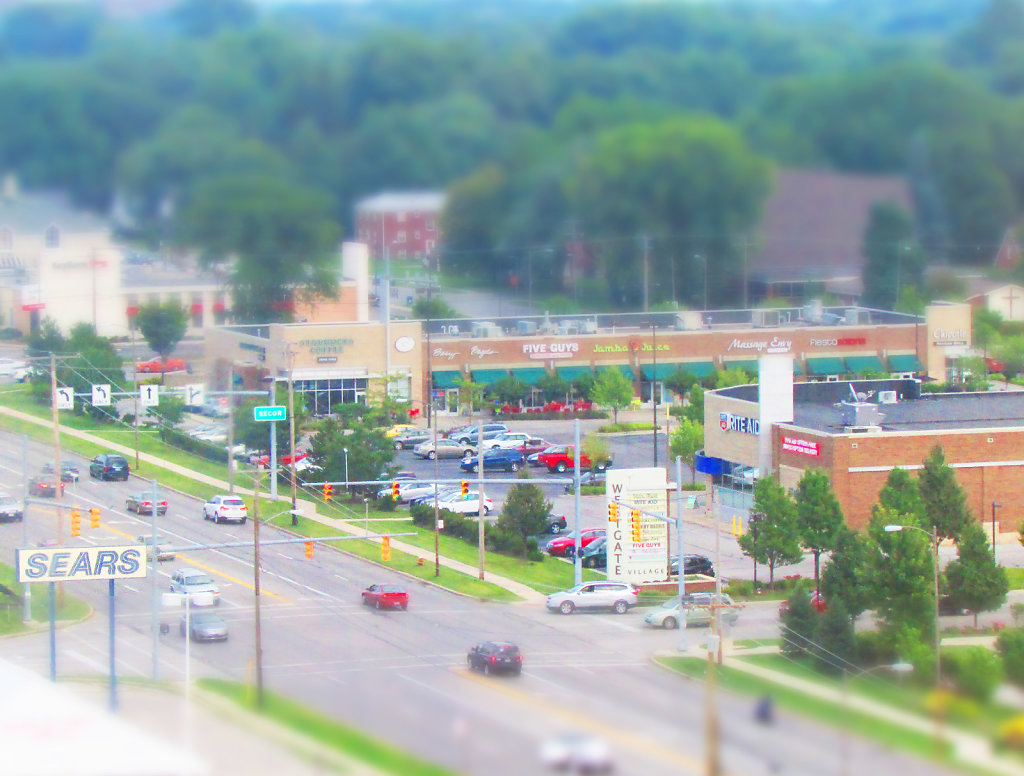 First tilt shift from the top floor