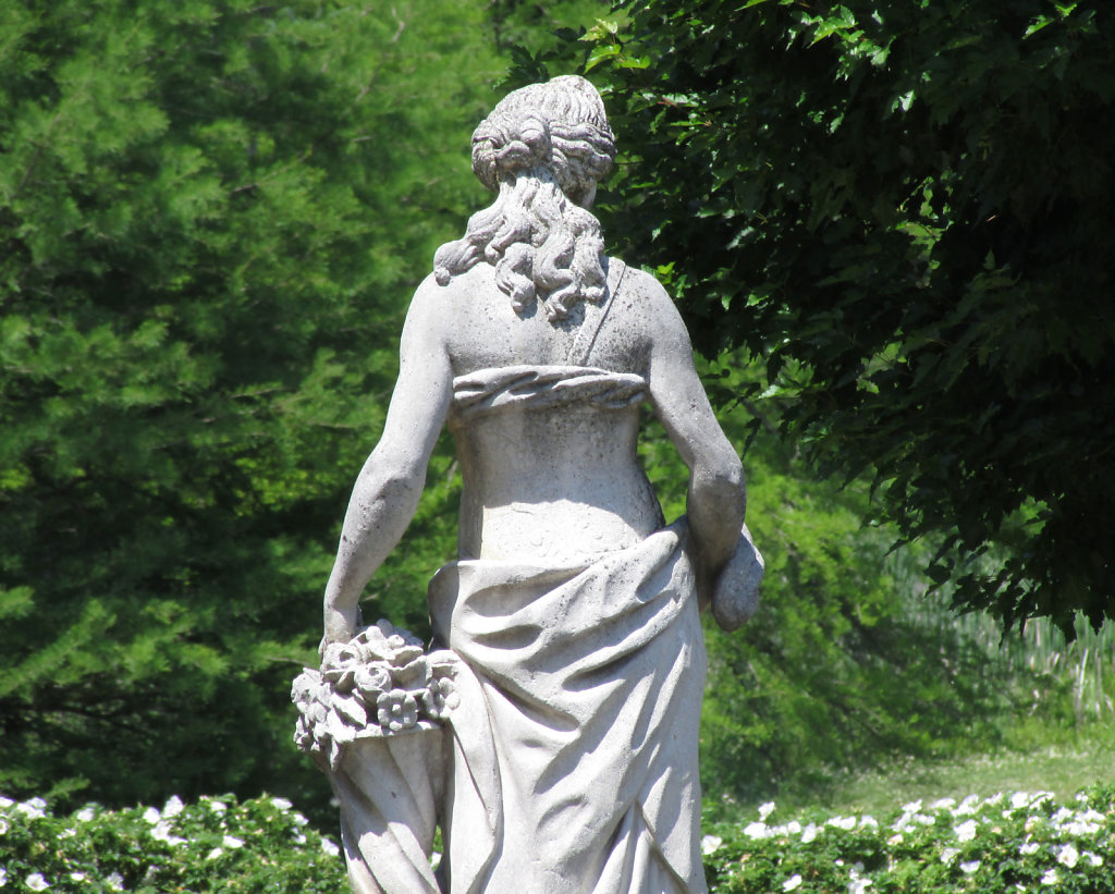 female statue from the back