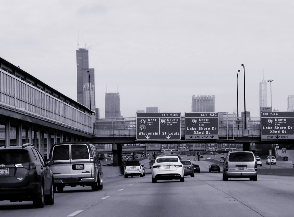 Drive into Chicago