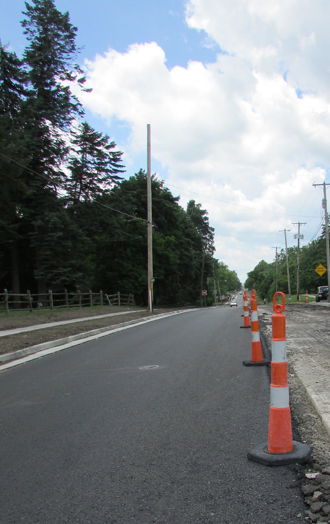 Road construction with cones picture