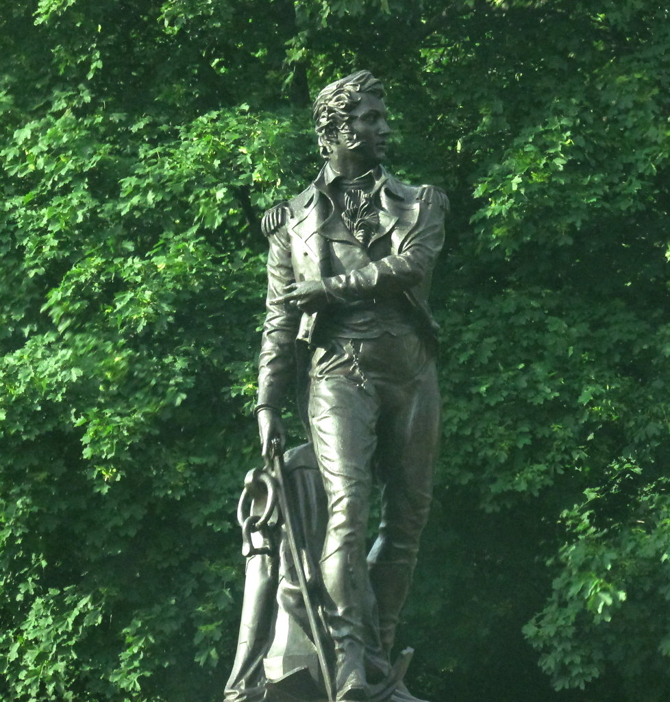 bronze statue of commadore perry in perrysburg pic