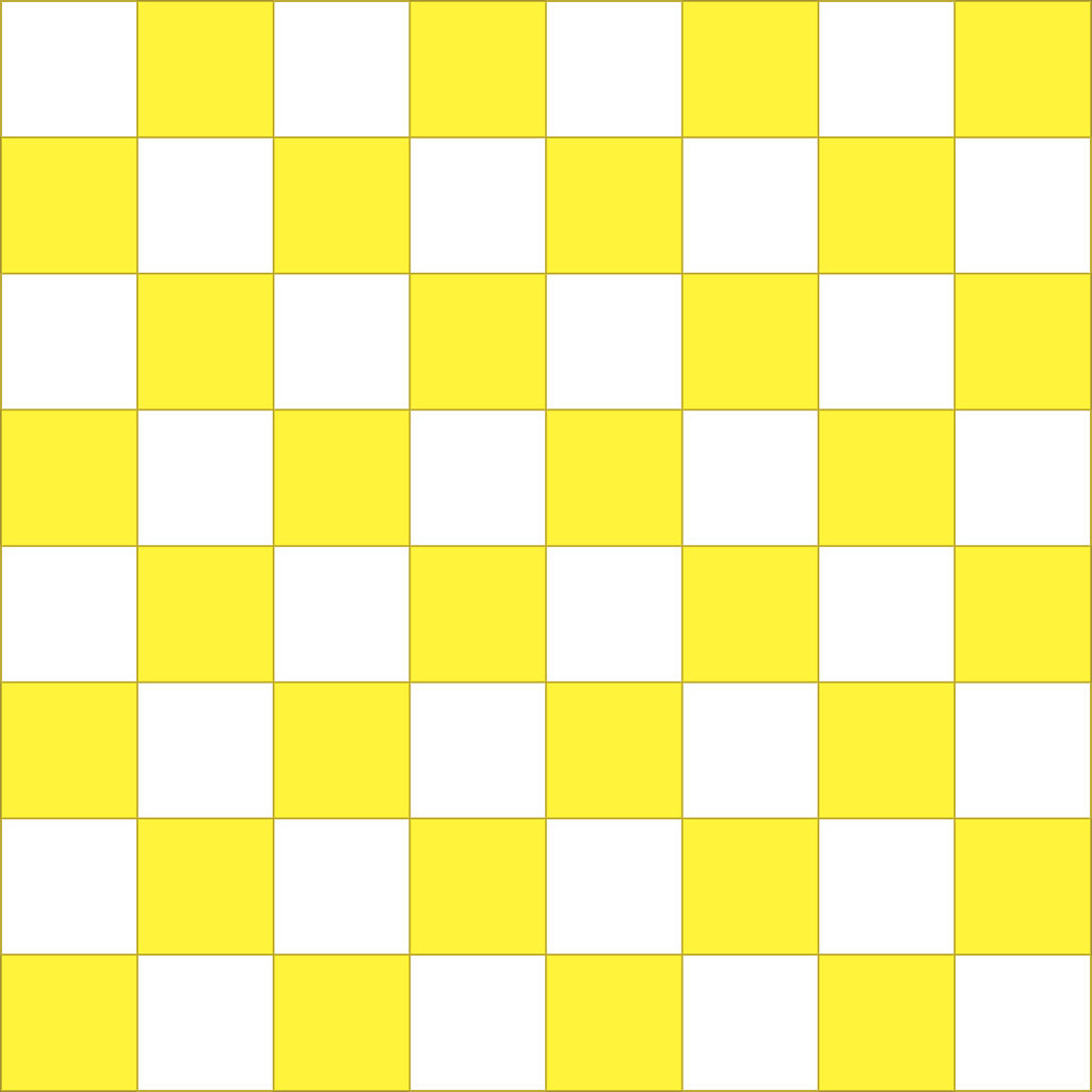 Yellow and white checker board image