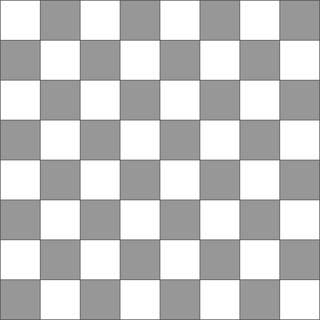 Grey and white checker pattern