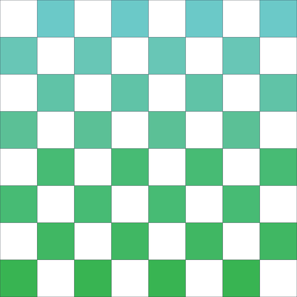gradient green and blue checkers